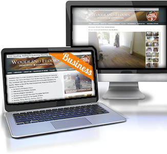 Website for Local Services Company - Woodland Floors